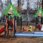 Комфортная городская среда: в Карпогорах идет обустройство семейного спортивного парка