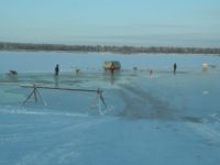Ледовые дороги в Виноградовском районе