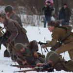 Архангельские реконструкторы воссоздали прорыв блокады Ленинграда