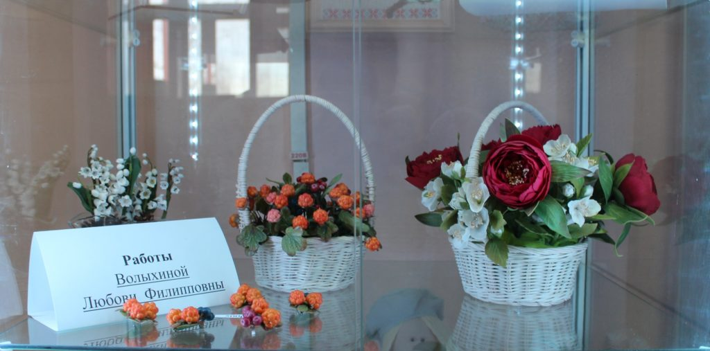 В центральной библиотеке Виноградовского района работает выставка «Весеннее настроение»