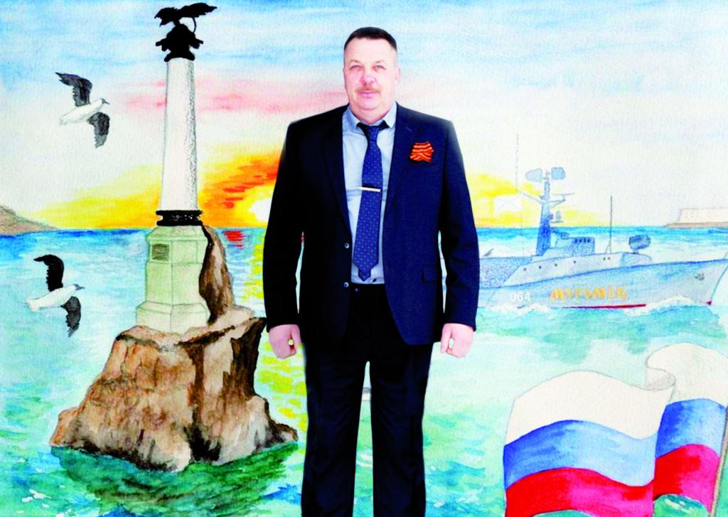 Возвращению Крыма в родную гавань рад Николай Фенев, директор Дома культуры поселка Рочегда Виноградовского района