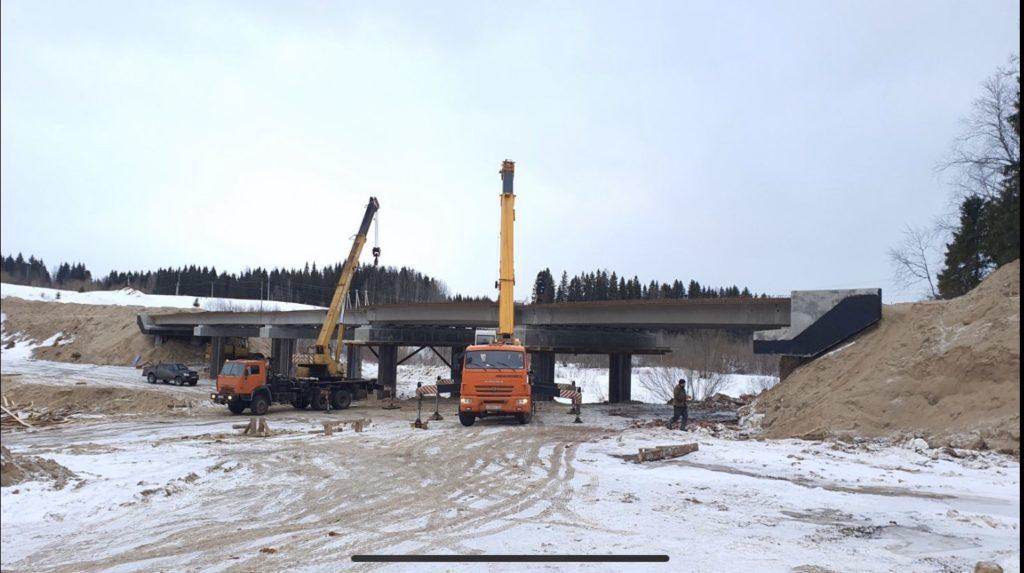 Новый мост через Сельменьгу в Виноградовском районе планируется открыть уже этой осенью