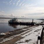 Паром СП-17 приступил к работе на переправе Березник - Осиново в Виноградовском районе