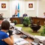 Полпред Президента в СЗФО Александр Гуцан провел в Архангельске совещание по реализации нацпроектов