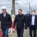 Александр Цыбульский положительно оценил ход реконструкции Ягринского моста