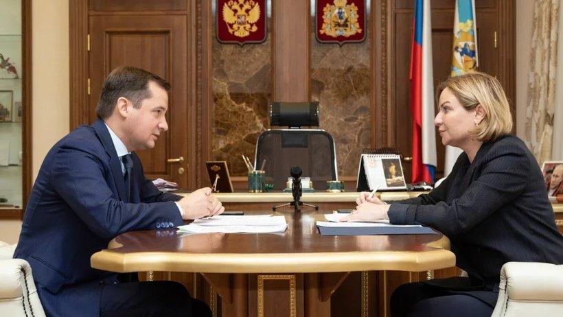 Ольга Любимова и Александр Цыбульский обсудили планы по строительству музейного фондохранилища в Архангельске