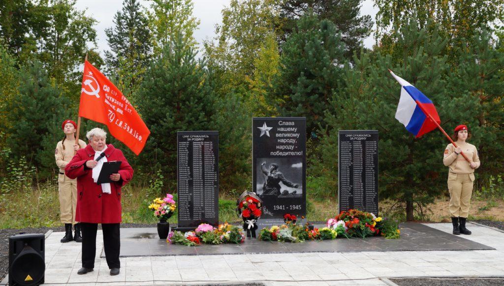 В поселке Пянда открыт памятник воинам-победителям
