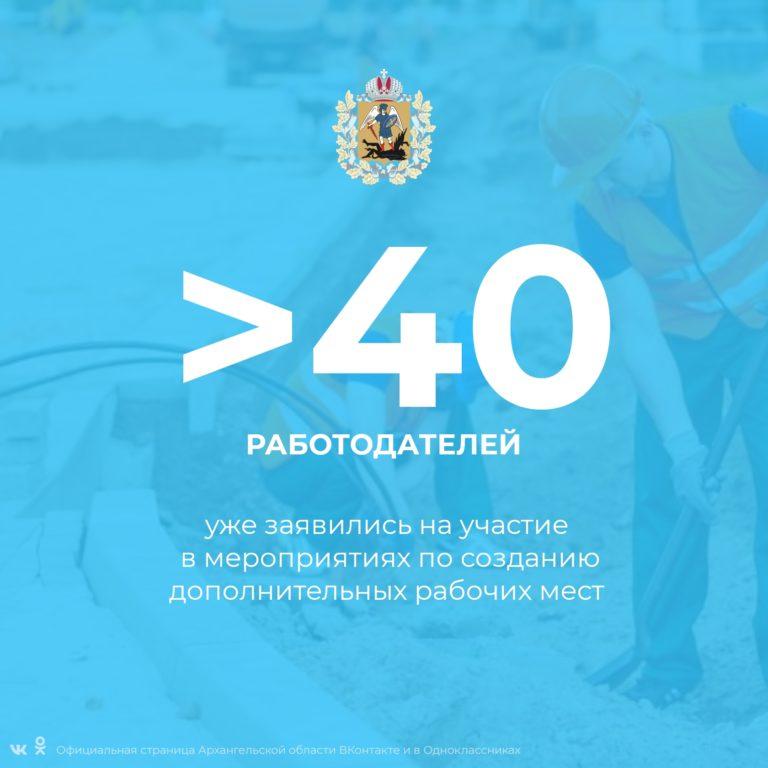 Более 40 работодателей уже заявились на участие в мероприятиях по созданию дополнительных рабочих мест