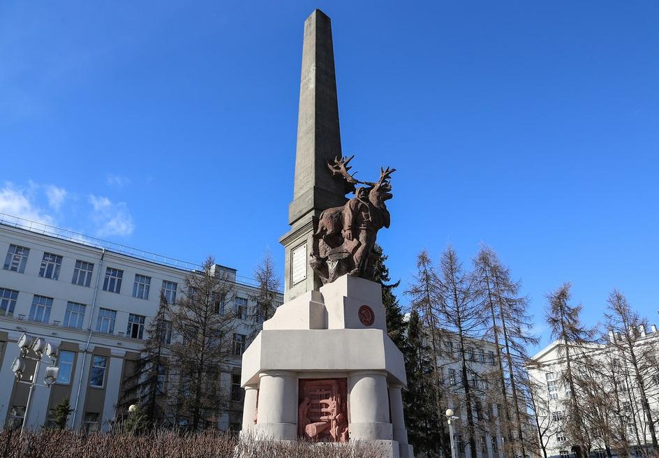 Памятник монументального искусства Обелиск Севера в центре Архангельска ожидает полномасштабная реставрация