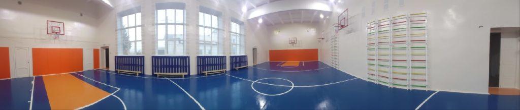 В Устьваеньгской средней школе Виноградовского района в рамках федерального проекта отремонтирован спортивный зал