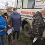 «Автобус здоровья» побывал в отдаленных деревнях Приморского района