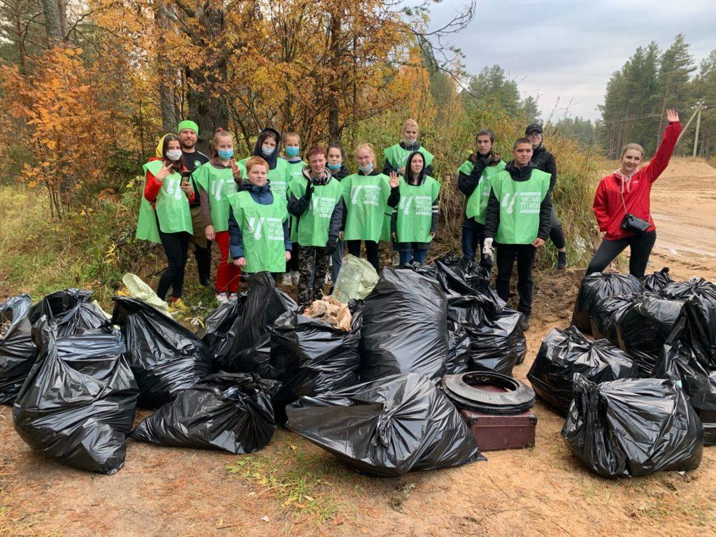 Экопатруль в действии: 42 мешка мусора вывезено из Верхнего Чажестрово