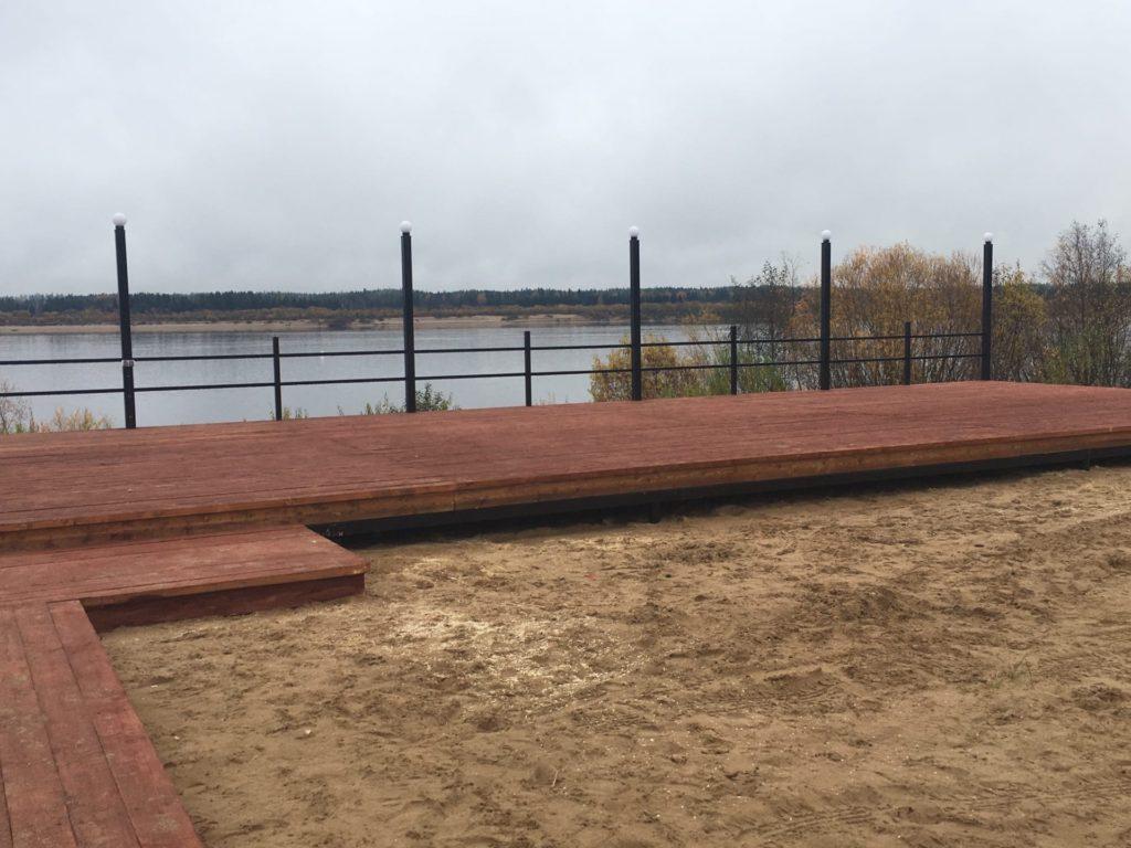 Смотровая площадка с прекрасным видом на Двину появилась в поселке Пянда Виноградовского района