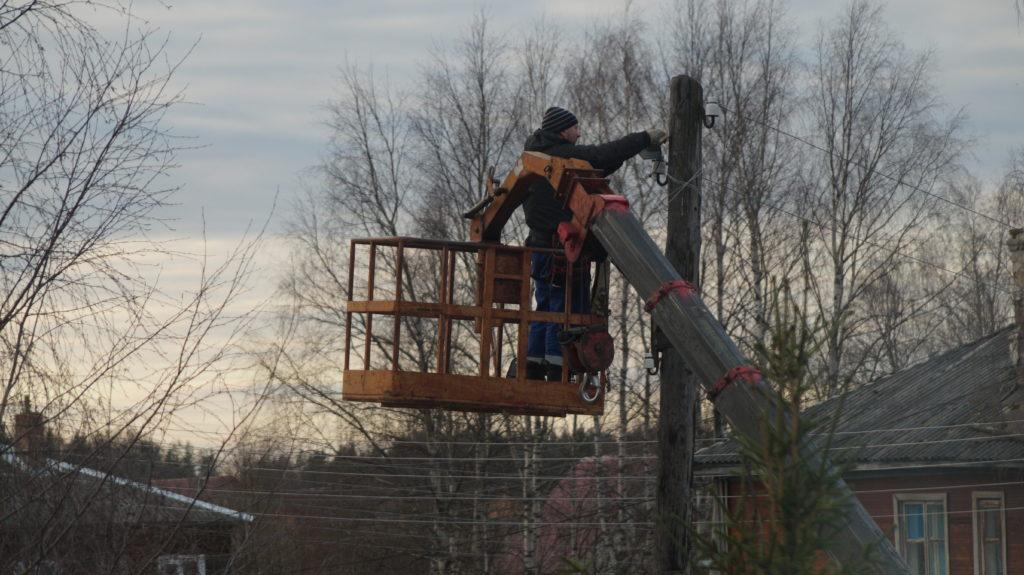 Светильников в Виноградовском районе становится больше