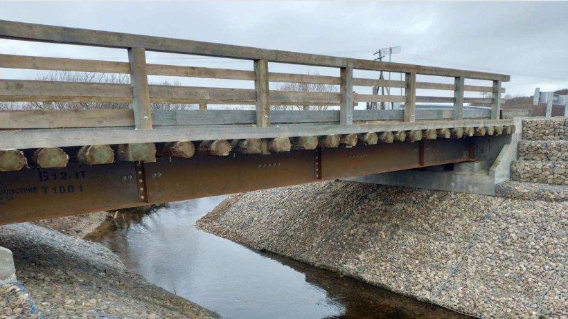 В Пинежском районе построен уникальный для России мост