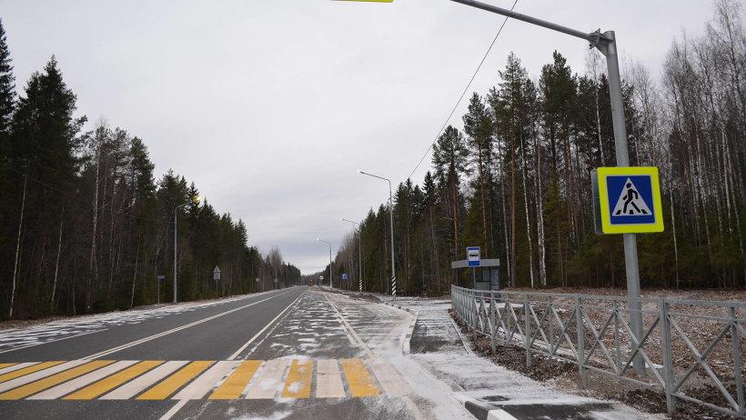 Ещё 10 километров трассы Усть-Вага – Ядриха оделись в асфальтобетон