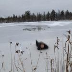 Лыжник замерз насмерть, провалившись под лёд на озере