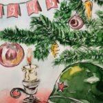 Юные художники Архангельской области стали самыми активными участниками всероссийского новогоднего конкурса