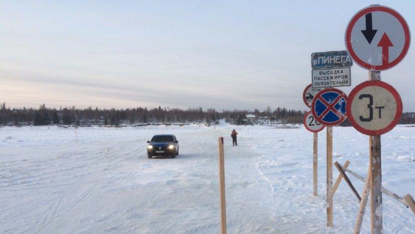 Ледовые переправы Архангельской области на 2 января