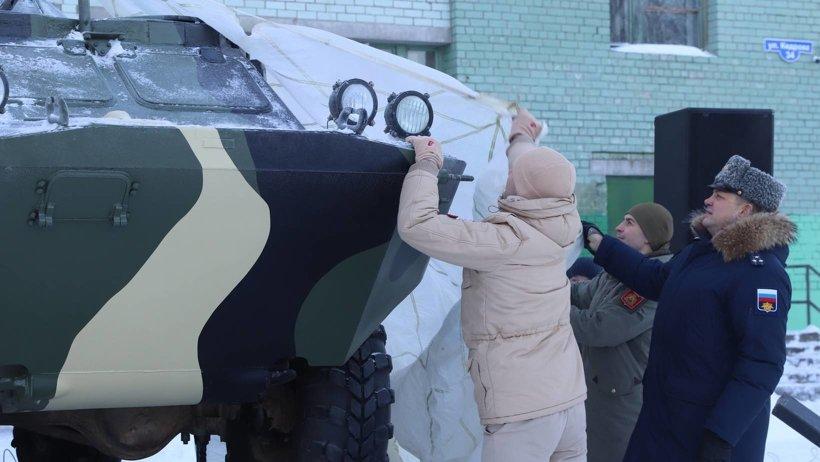Макет разведывательно-дозорной машины появился в Архангельске