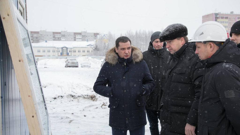 АлександрЦыбульскийпроверил ход строительства школ в рамках нацпроекта «Образование»