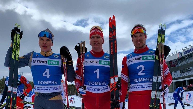Александр Большунов – победитель чемпионата России в скиатлоне