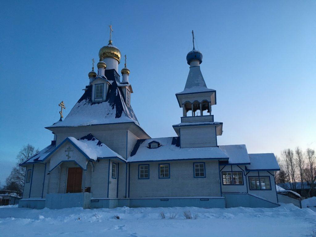 Храм святого праведного Иоанна Кронштадтского в поселке Березник Виноградовского района отмечает свое 15-летие