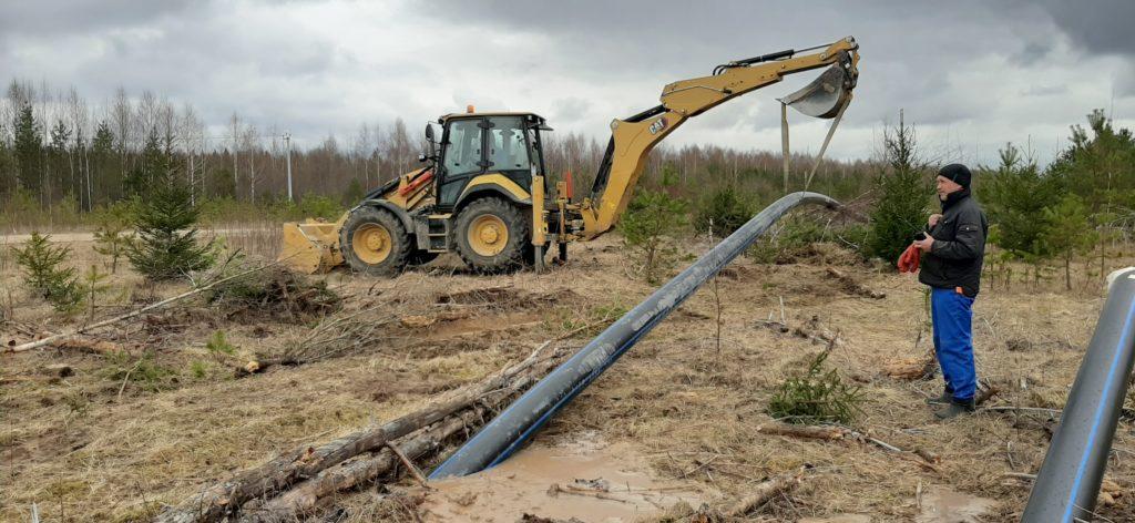 Горизонтальное направленное бурение. По новой технологии строится водопровод в Виноградовском районе