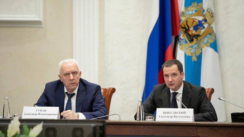 Александр Гуцан и Александр Цыбульский обсудили реализацию национальных проектов в регионе