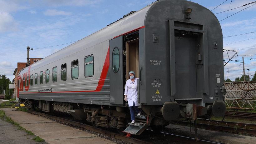В Поморье начал работу специальный поезд вакцинации от COVID-19