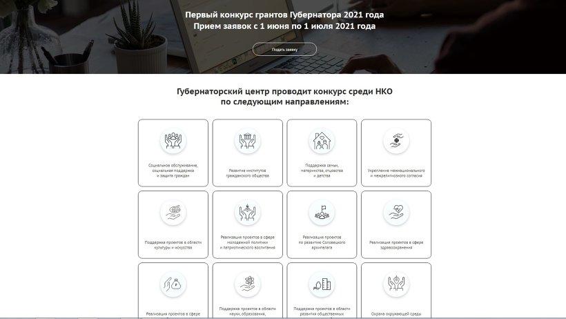 Первый губернаторский конкурс грантов: зарегистрировано 90 заявок
