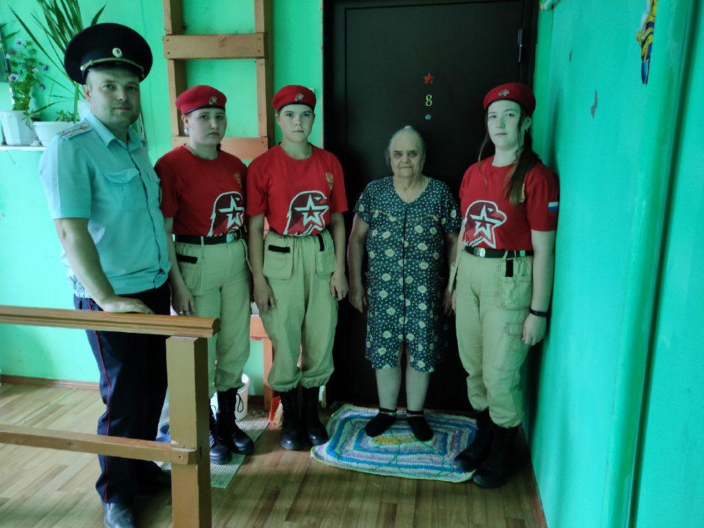 Юнармейцы Виноградовского района продолжают акцию «Дом со звездой»