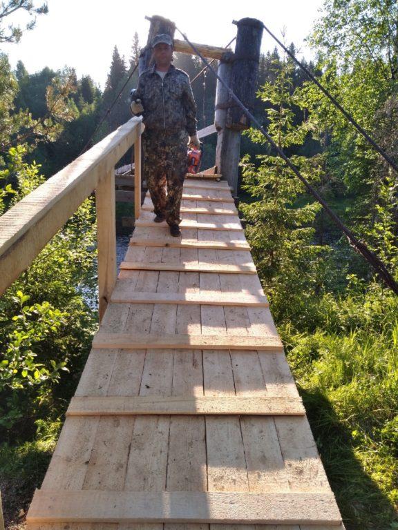 Мост жизни в деревне Шошельцы Виноградовского района