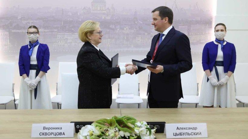 ПМЭФ-2021: правительство Поморья и Федеральное медико-биологическое агентство договорились о сотрудничестве