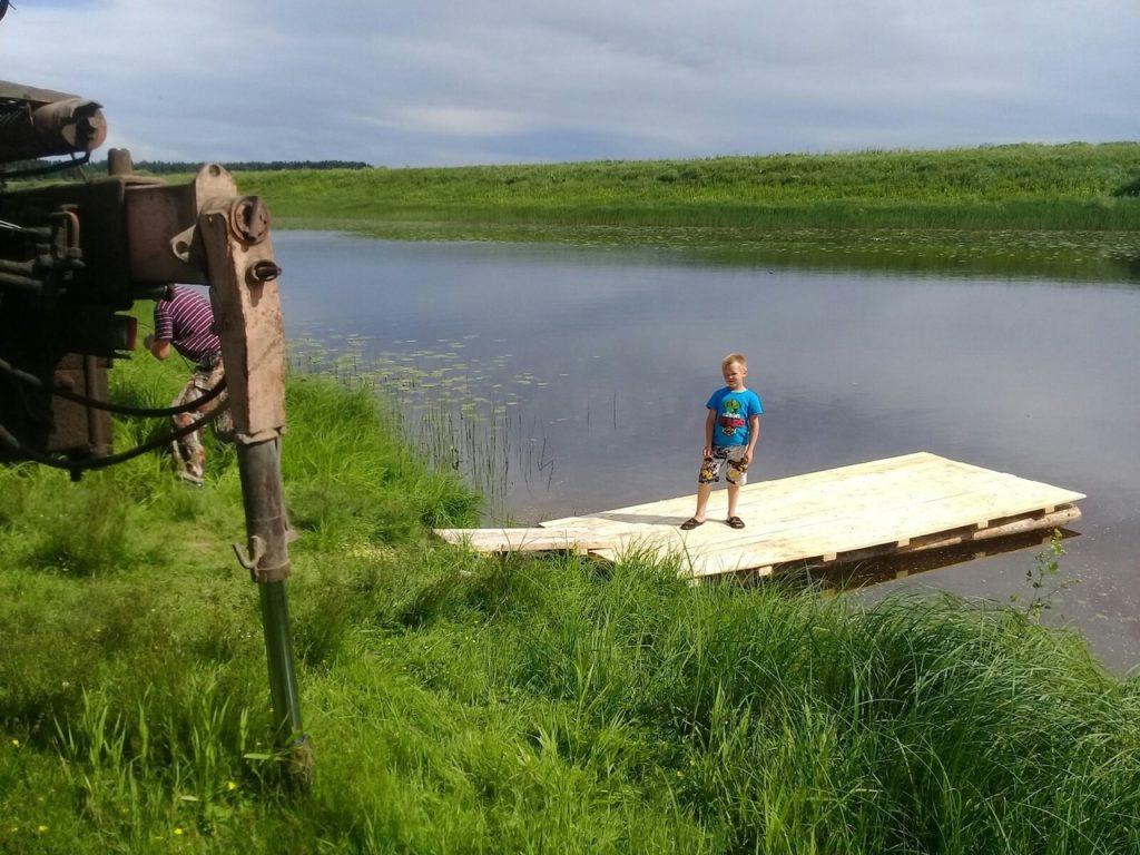 Бон для полоскания белья появился на озере Кривом МО «Усть-Ваеньгское»