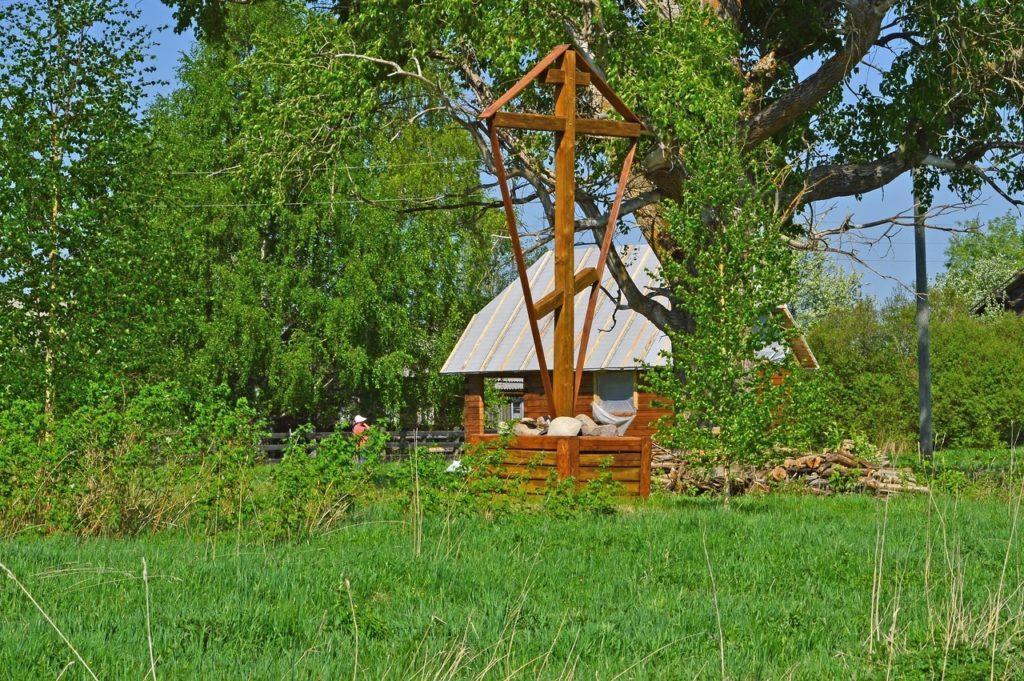 В деревне Городок Виноградовского района идет строительство часовни
