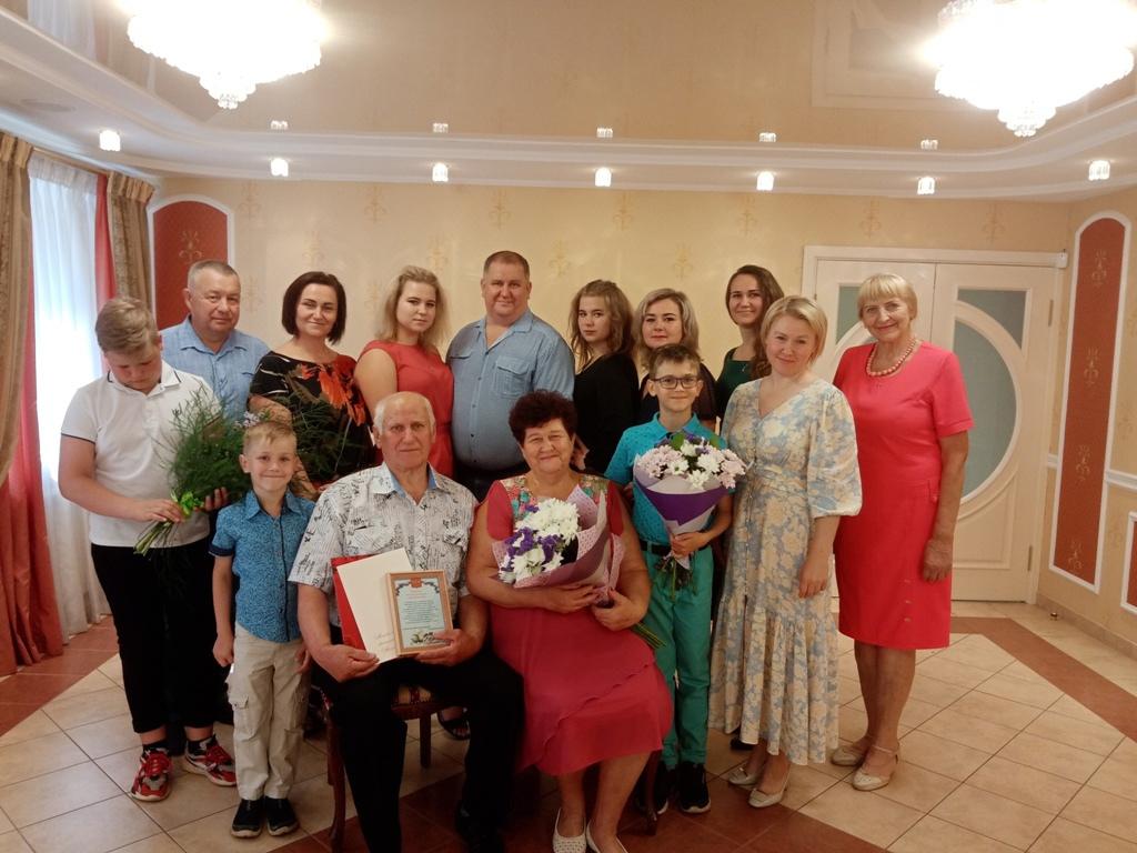 Золотую свадьбу в Виноградовском отделе ЗАГС отпраздновали супруги Гуня