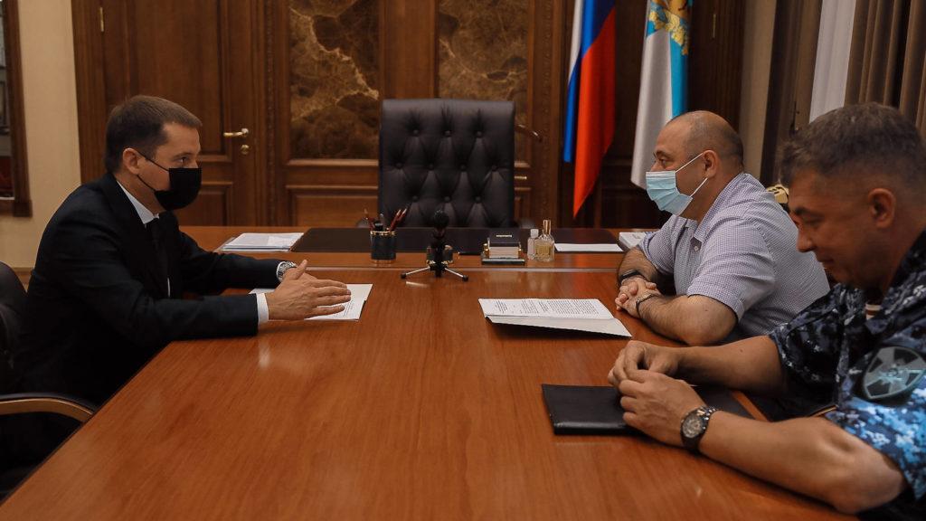 Александр Цыбульский обсудил с представителями Росгвардии вопросы национальной безопасности Арктической зоны