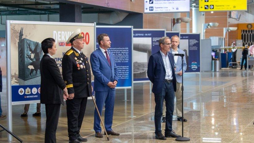 В аэропорту Шереметьево открыта фотовыставка к 80-летию прихода первого союзного конвоя «Дервиш»