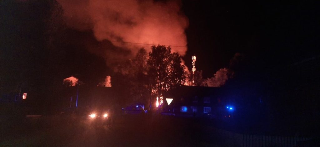 Большой пожар в центре Виноградовского района