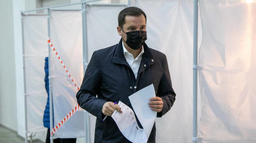 Александр Цыбульский принял участие в голосовании на выборах депутатов Госдумы