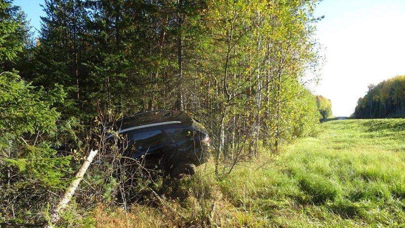 В Виноградовском районе «Лада» съехала в кювет: водитель уснул за рулем