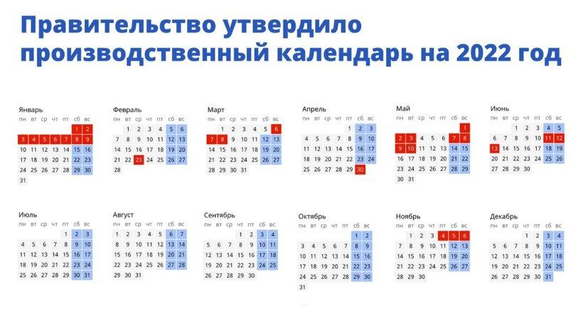 Правительство России определило, как россияне будут отдыхать в 2022 году